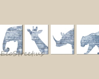 INSTANT DOWNLOAD, Safari Nursery Decor, Zoo Animals Nursery, Beachy Baby Boy Room Decor, Nursery Wall Art, Navy Wood Nursery, Antique Decor