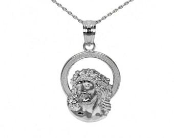 Sterling Silver Jesus Necklace