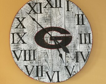 UGA - University of Georgia - Bulldogs Clock