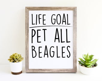 Beagle Funny Dog Puppy Womens Wall Art Printables for Dog Moms Cute Décor Gifts for Dog Lovers
