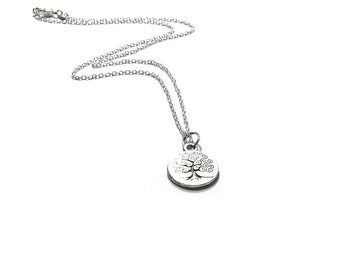 Tree Of  Eternity  Pendant Necklace , Sterling Silver Necklace  , 925 Silver Chain  , Unisex Necklace