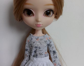 Mori flowers blouse for pullip blythe azone momoko obitsu and similar dolls