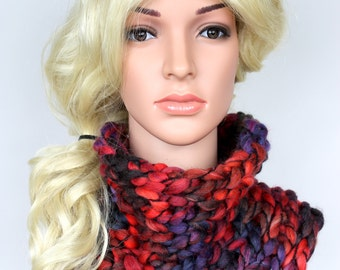 Chunky Scarf Women Rainbow Scarves for Women Scarf Winter Scarf Chunky Knit Scarf Gift for Women Mothers Day Gift Mom from Daughter Cowl CHA