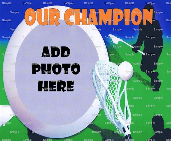 LaCrosse Birthday - Edible Cake and Cupcake Photo Frame For Birthdays and Parties! - D4440