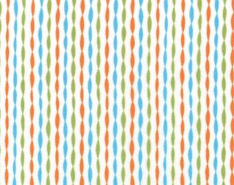 Half Yard Bloomin' Fresh - Garden Stripes in Poppy Orange - Cotton Quilt Fabric - designed by Deb Strain for Moda Fabrics - 19668-13 (W2771)