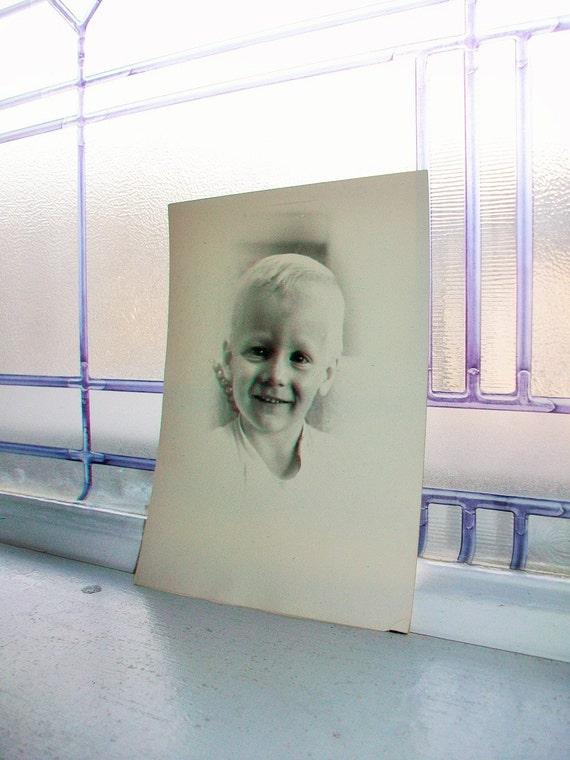 Vintage Photograph Portrait Young Boy 1960s 7 x 5