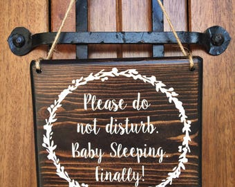 Baby Sleeping Sign | 7x8 | Door Signs | Do not disturb Sign | Naptime Sign | Sleeping baby sign | Baby Shower Gift | New Baby | New Mom Gift