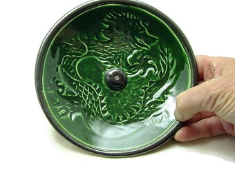 Incense Burner DRAGON Handmade Pottery