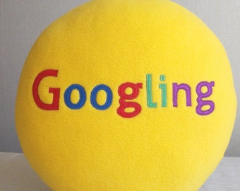 Google it, Googling, Google pillow, geekery pillow, geek pillow, humorous gift, humorous pillow, admin gift, sysadmin gift
