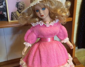 Jacquay Yaxley Knitting Emporium Vintage Doll in Hand Knitted Gown
