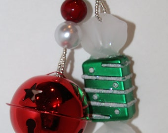 Christmas Candy and Stockings Tablecloth Weights