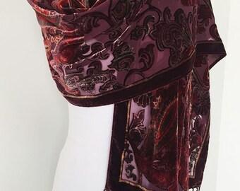 Women's Vintage Abstract Fringe Silk-Blend Scarf