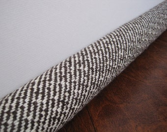 BROWN Diagonal Tweed Door Draft Snake / Custom Size Draft Stopper / Draft  Guard