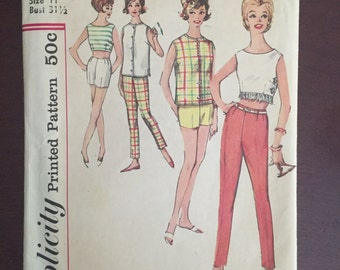 Simplicity pattern 4504 A 1962 junior size 11 pants and top