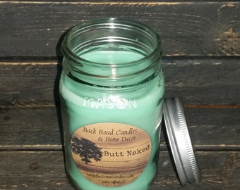 Butt Naked Scented Mason Jar Candle 16 oz.