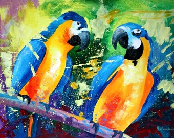 Parrot - Aceo Art Print from Original Oil Painting
