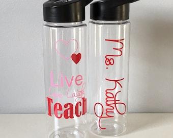 Teacher Appreciation Gift, Gift For Teacher, Personalized Teacher Water Bottle, Personalized Teacher Gift, Appreciation Teacher Gift