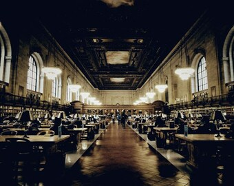 New York Public Library - Rose Main Reading Room - Established 1895 - Third Largest in The World - Wall Decor - New York Architecture