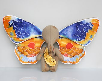 MAKE TO ORDER. Four-Wings Butterfly-Elephant. The Elephant And The Dream, Art Collectible Toy, Magic Elephant, Butterfly Wings, Miracle