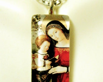 Madonna and child pendant with chain - GP12-054