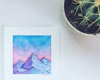 Mist and Dawn (Original Watercolor)