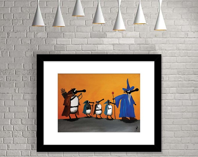 """Featured listing image: """"Fellowsheep Of The Ring"""" (Limited Edition Print)"""