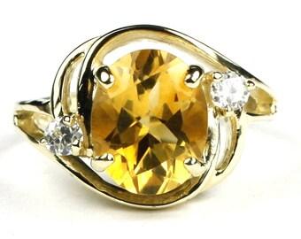 Citrine, 14KY Gold Ring, R021