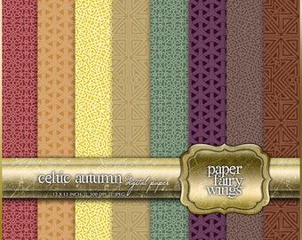 Celtic Autumn Digital Paper