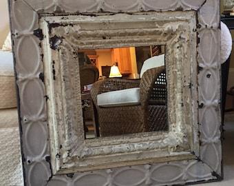 Ceiling Tin Mirror 31x31