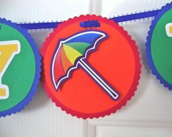 Rainbow sprinkle baby shower banner