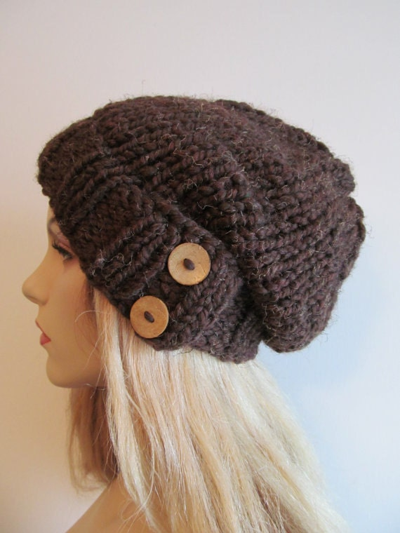 Pdf Knitting Pattern Instant Download Chunky Hipster Slouchy Beanie