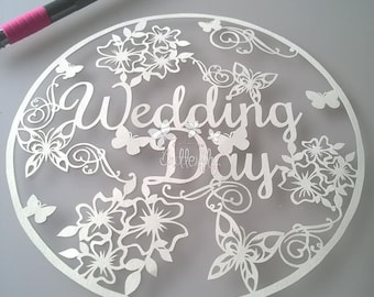 Wedding Day Paper Cutting Template **Commercial Use**