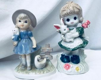 Vintage girl figurines. 1970-1980