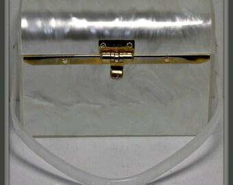 Vintage Lucite Box Purse,Vintage Box Purse,Vintage Lucite Handbag,Vintage Handbag,Vintage Delill Handbag,Vintage Lucite Purse,Delill Lucite