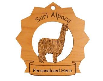 Suri Alpaca Personalized Ornament