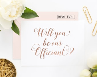 Will You Be Our Officiant Card - Wedding Officiant Card - Will you be my officiant card - Officiant Wedding Card (CH-TVG)