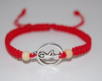 Yoga Bracelet,Silver Yoga Charm,Hemp,Red String,Macrame Bracelet,Shamballa,Adjustable Drawstring,Man,Woman,Yoga,Protection,Meditation