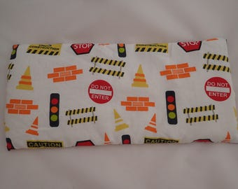 500g Construction Transport Cars Print Heated / Cool Heat Pack Weighted Lap Pad. Autism ADHD SPD sensory, for concentration, pain or anxiety