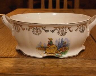Frank Buckley Crinoline Lady Bowl,C1950s. Vintage.