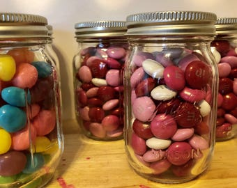 Beach Party! Mason Jars 4oz candy filled party favors