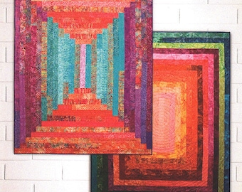 Big Block Jelly Logs Quilt Pattern    2 Patterns in 1   Jelly Roll Friendly!  By:  Sam Hunter