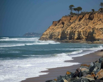 Beautiful beach at Del Mar Cliffs near San Diego CA