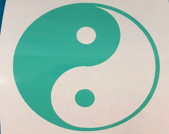 Green Yin And Yang, Vinyl Decal, Sticker, New, Gift