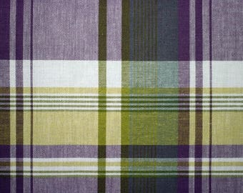 Laminated placemat Scottish fabric look purple and green