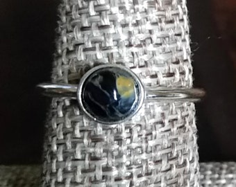 Pietersite Sterling Silver Stackable Ring
