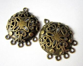 4 Jewelry Earring Findings Ornate Chandeliers 29mm diy jewelry supplies (F7)