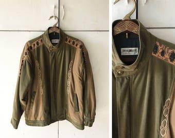 1980's Italian Jacket | Size Men's Large Jacket | Men's Fall Jacket | 80's Jacket