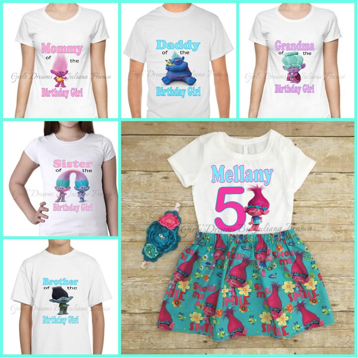 Trolls Family Shirts Trolls Shirt Family Shirt Poppy # Muebles De Peppa Pig