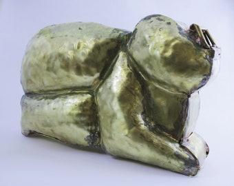 Brass statue, handmade, 2017