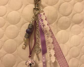 Purple liberty bear keychain